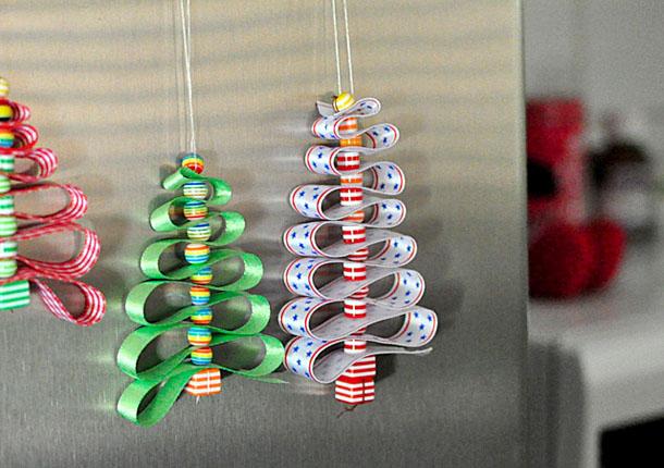 Елочные игрушки из коробки своими руками